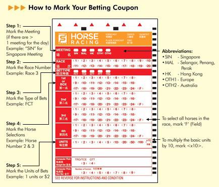 mark sense betting slips for sale