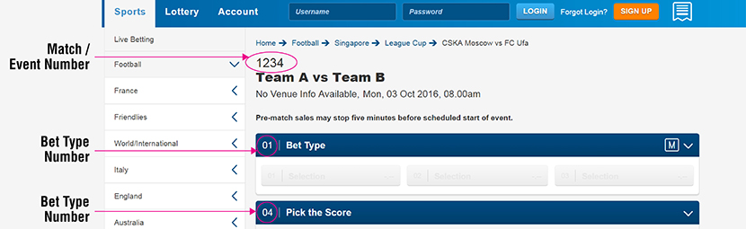 Sports betting | Singapore Pools