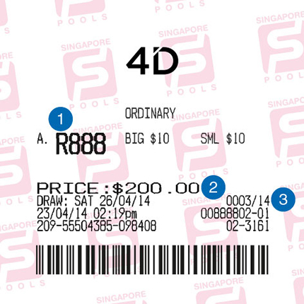 Placing 4D bets at outlets | Singapore Pools