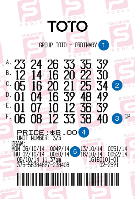 Placing TOTO bets at outlets | Singapore Pools